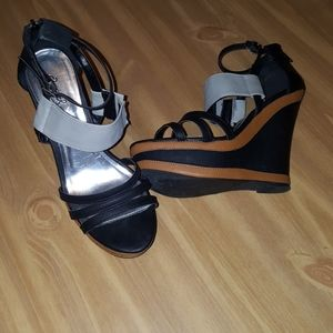 Qupid strappy wedge